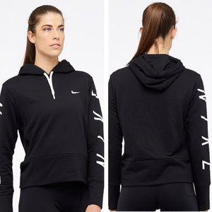 Nike Dri Fit Training Hoodie Sweatshirt - Black